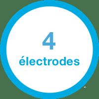 4 électrodes