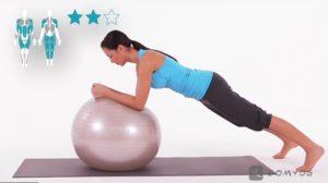 gym ball abdos